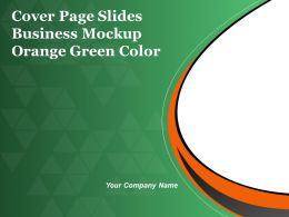 Cover Page Slides Business Mockup Orange Green Color