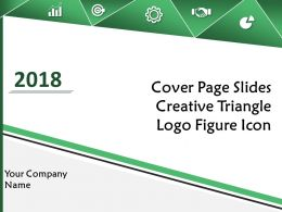 Cover Page Slides Creative Triangle Logo Figure Icon