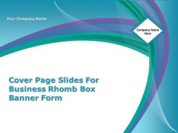 Cover Page Slides For Business Rhomb Box Banner Form