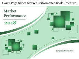Cover Page Slides Market Performance Book Brochure