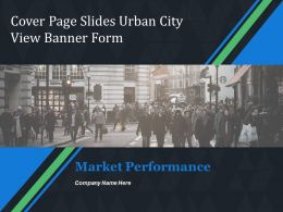Cover Page Slides Urban City View Banner Form