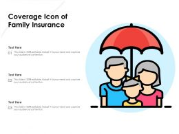 Coverage Icon Of Family Insurance