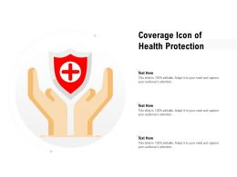 Coverage Icon Of Health Protection