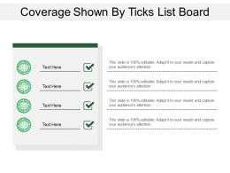 Coverage Shown By Ticks List Board