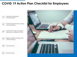 COVID 19 Action Plan Checklist For Employees