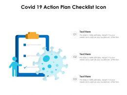 COVID 19 Action Plan Checklist Icon