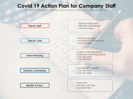 COVID 19 Action Plan For Company Staff