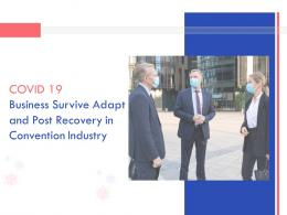 COVID 19 Business Survive Adapt And Post Recovery For Convention Industry Complete Deck