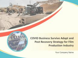 COVID 19 Business Survive Adapt And Post Recovery Strategy For Film Production Industry Complete Deck