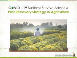 COVID 19 Business Survive Adapt And Post Recovery Strategy In Agriculture Complete Deck