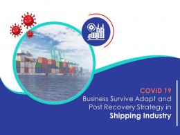 COVID 19 Business Survive Adapt And Post Recovery Strategy In Shipping Industry Complete Deck