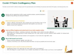 COVID 19 Farm Contingency Plan Bins Mops Ppt Powerpoint Presentation File Layouts