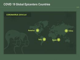 COVID 19 Global Epicenters Countries Ppt Powerpoint Presentation Icon Smartart