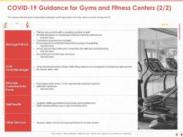 COVID 19 Guidance For Gyms And Fitness Centers Stations Ppt Powerpoint Presentation Styles Templates