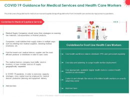 COVID 19 Guidance For Medical Services And Health Care Workers Boosting Powerpoint Presentation Grid