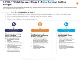 Covid 19 Hotel Recovery Stage 3 Travel Demand Getting Stronger Ppt Powerpoint Presentation Icon