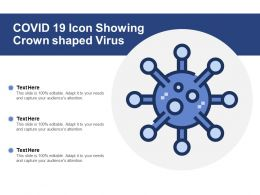 COVID 19 Icon Showing Crown Shaped Virus