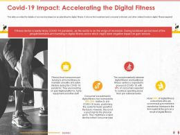 COVID 19 Impact Accelerating The Digital Fitness Spending Ppt Powerpoint Presentation File Gallery
