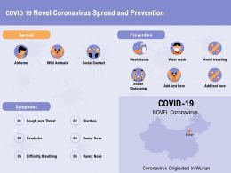 COVID 19 Novel Coronavirus Spread And Prevention Social Ppt Powerpoint Presentation Summary Guidelines