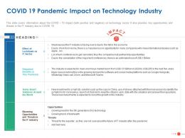COVID 19 Pandemic Impact On Technology Industry Ppt Powerpoint Presentation Aids