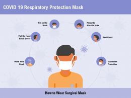 COVID 19 Respiratory Protection Mask Seal Check Ppt Powerpoint Presentation Ideas Backgrounds
