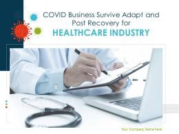 COVID Business Survive Adapt And Post Recovery For Healthcare Industry Complete Deck