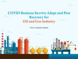 COVID Business Survive Adapt And Post Recovery For Oil And Gas Industry Complete Deck