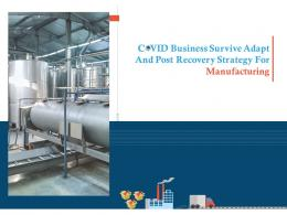 COVID Business Survive Adapt And Post Recovery Strategy For Manufacturing Complete Deck