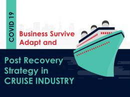 COVID Business Survive And Adapt Strategy And Post COVID Recovery Strategy For Cruise Industry Complete Deck