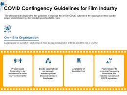 COVID Contingency Guidelines For Film Industry M1491 Ppt Powerpoint Presentation File Ideas