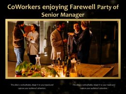Coworkers Enjoying Farewell Party Of Senior Manager