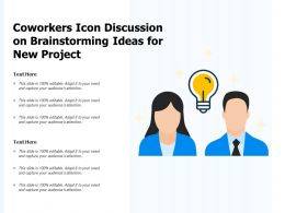 Coworkers Icon Discussion On Brainstorming Ideas For New Project