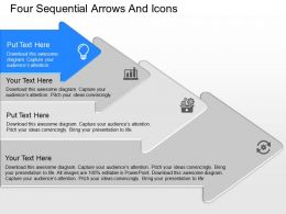 cp Four Sequential Arrows And Icons Powerpoint Template