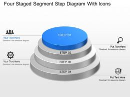 Cp Four Staged Segment Step Diagram With Icons Powerpoint Template