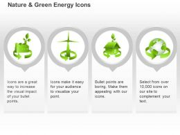 Cp Four Unique Symbols For Green Energy Use Ppt Icons Graphics