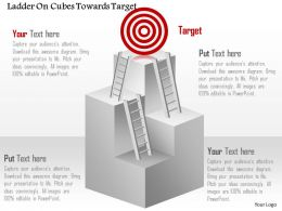Cp Ladder On Cubes Towards Target Powerpoint Template