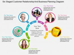 cp Six Staged Customer Relationship And Business Planning Diagram Flat Powerpoint Design