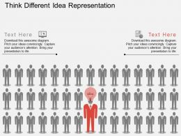 cp Think Different Idea Representation Flat Powerpoint Design
