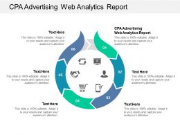 CPA Advertising Web Analytics Report Ppt Powerpoint Presentation Gallery Template Cpb