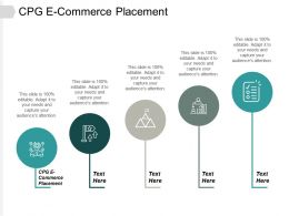 CPG E Commerce Placement Ppt Powerpoint Presentation Infographic Template Infographic Cpb