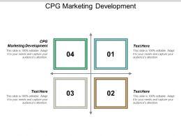 CPG Marketing Development Ppt Powerpoint Presentation Outline Portfolio Cpb