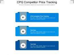 CPQ Competitor Price Tracking Ppt Powerpoint Presentation Inspiration Example Cpb