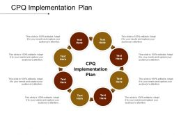 CPQ Implementation Plan Ppt Powerpoint Presentation Icon Styles Cpb