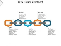 CPQ Return Investment Ppt Powerpoint Presentation Ideas Design Templates Cpb