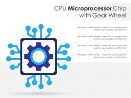 CPU Microprocessor Chip With Gear Wheel