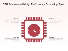 CPU Processor With High Performance Computing Speed