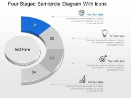 Cq Four Staged Semicircle Diagram With Icons Powerpoint Template