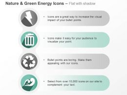 Cq Four Vertical Green Energy Symbols Ppt Icons Graphics