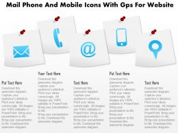 Cq Mail Phone And Mobile Icons With Gps For Website Powerpoint Template