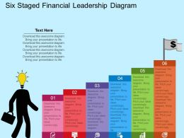cq Six Staged Financial Leadership Diagram Flat Powerpoint Design